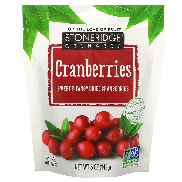 Cranberries, Sweet & Tangy Dried Cranberries, 5 oz (142 g)