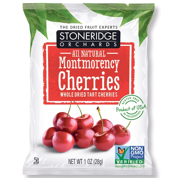 Stoneridge Orchards, Montmorency Cherries, Whole Dried Tart Cherries, 1 oz (28 g) (Discontinued Item)