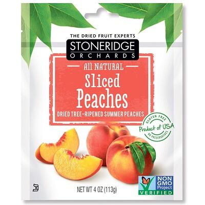 Персиковые дольки, высушенные летние персики, созревшие на дереве, 113г (4унции)