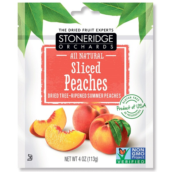 Sliced Peaches, Dried Tree-Ripened Summer Peaches, 4 oz (113 g)