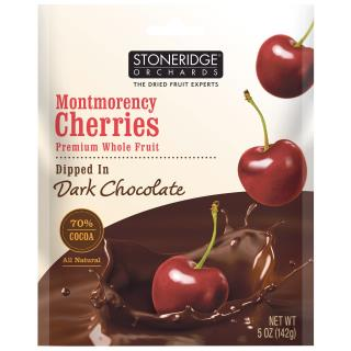 Stoneridge Orchards, Cerezas Montmorency, bañadas en chocolate negro, 5 oz (142 g)