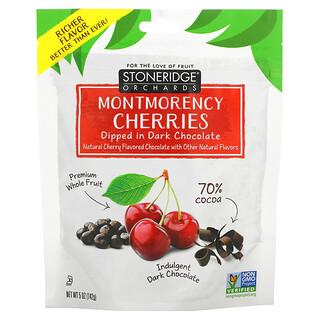 Stoneridge Orchards, Cerezas Montmorency, bañadas en chocolate negro, 70% de cacao, 142g (5oz)