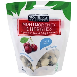 Stoneridge Orchards, Cerezas Montmorency bañadas en yogur griego, 5 oz (142 g)