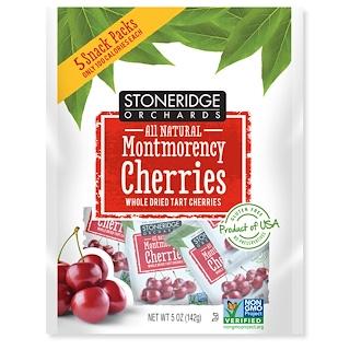 Stoneridge Orchards, Montmorency Cherries, Whole Dried Tart Cherries, 5 Packs, 1 oz (28 g) Each