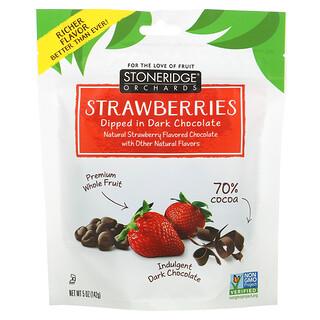 Stoneridge Orchards, Fresas bañadas en chocolate negro, 70% de cacao, 142g (5oz)
