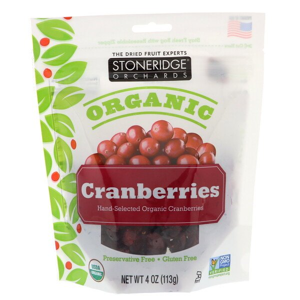 Organic Cranberries, 4 oz (113 g)