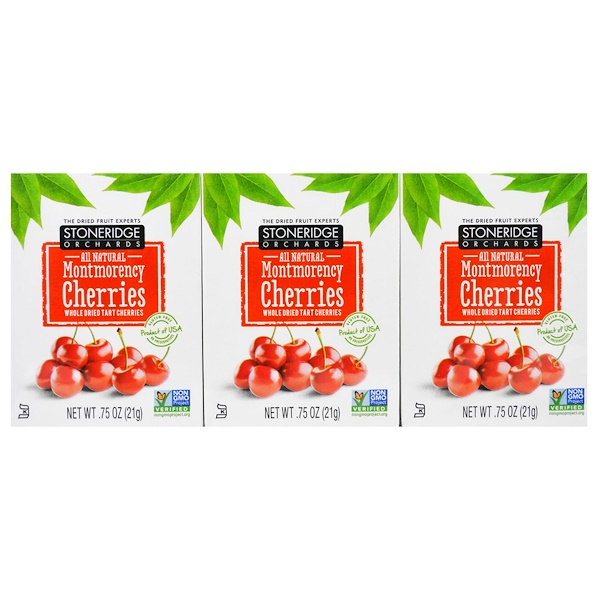 Stoneridge Orchards, Montmorency Cherries, Whole Dried Tart Cherries, 6 Pack, 0.75 oz (21 g) Each (Discontinued Item)