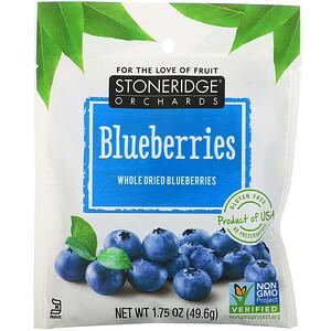 Стоунридж Орчардс, Blueberries, Whole Dried Blueberries, 1.75 oz (49.6 g) отзывы покупателей