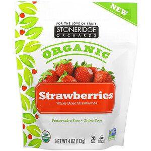 Stoneridge Orchards, Organic Whole Dried Strawberries, 4 oz (113 g)