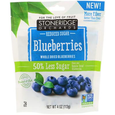 Купить Stoneridge Orchards Голубика, сушеная цельная голубика, с пониженным содержанием сахара, 113г (4унции)