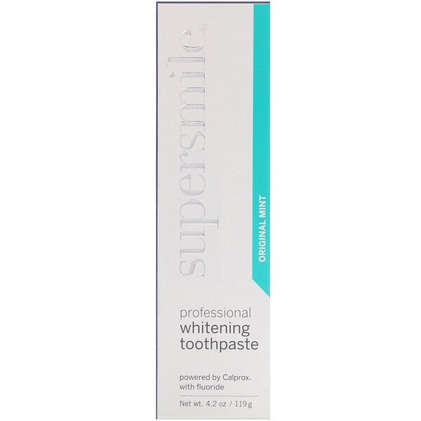 Supersmile, Dentifrice blanchissant professionnel, Menthe originale, 119 g