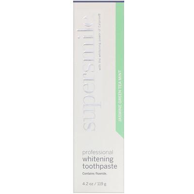 Купить Supersmile Профессиональная отбеливающая зубная паста, «Мятный зеленый чай с жасмином», 119г