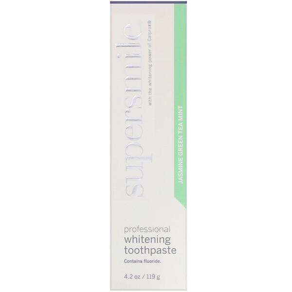 Supersmile, Dentifrice blanchissant professionnel, Jasmin - thé vert - menthe, 119g (Discontinued Item)