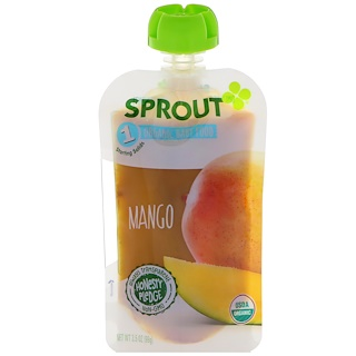 Sprout Organic, Baby Food, Stage 1, Mango, 3.5 oz (99 g)