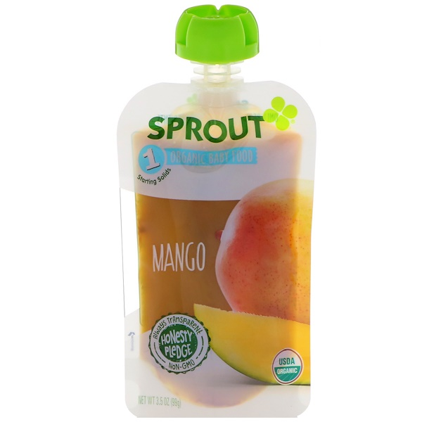 Sprout Organic, Baby Food, Stage 1, Mango, 3.5 oz (99 g) (Discontinued Item)