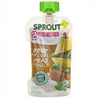 Sprout Organic, Organic Baby Food, 6 Months & Up, Pear Kiwi Peas Spinach, 3.5 oz (99 g)