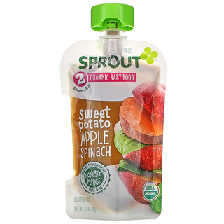 Sprout Organic, Baby Food, 6 Months & Up, Sweet Potato Apple Spinach,  3.5 oz ( 99 g)