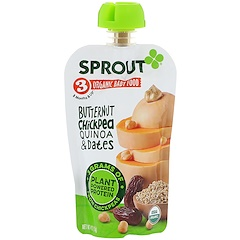 Sprout Organic, Baby Food, Stage 3, Butternut Chickpea, Quinoa & Dates, 4 oz (113 g)
