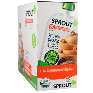 Sprout Organic, Детское питание, этап 3, орех серый, нут, киноа и финики, 6 пакетов по 4 унции (113 г)