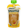 Sprout Organic, Smoothie, Peach Banana with Yogurt, Veggies & Flax Seed, 4 oz (113 g)