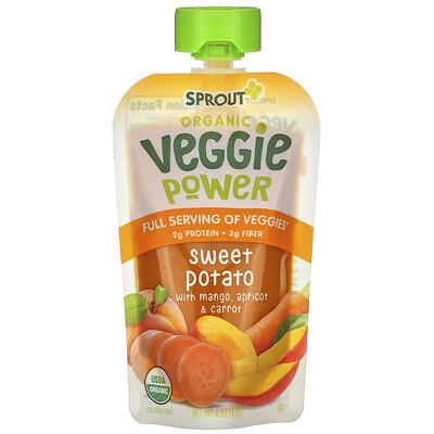 Купить Sprout Organic Veggie Power, Sweet Potato with Mango, Apricot & Carrot, 4 oz (113 g)