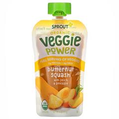 Sprout Organic, Veggie Power 吸吸冰,油胡桃果泥/桃脯/鳳梨,4 盎司(113 克)