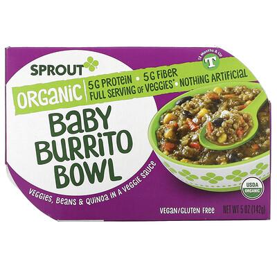 Купить Sprout Organic Baby Burrito Bowl, 12 Months & Up, 5 oz ( 142 g)