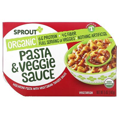 Купить Sprout Organic Pasta & Veggie Sauce, 12 + Months, 5 oz ( 142 g)