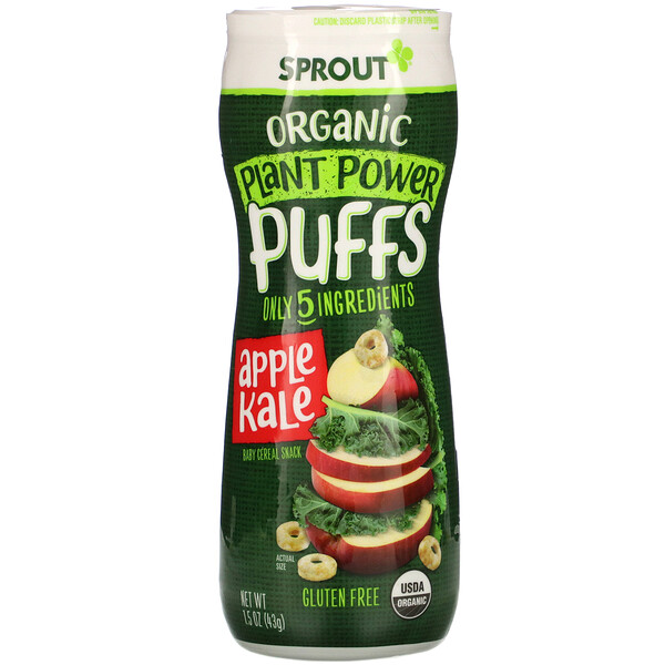 Plant Power Puffs, Apple Kale, 1.5 oz (43 g)