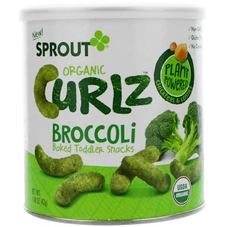 Sprout Organic, Curlz, Broccoli, 1.48 oz (42 g)