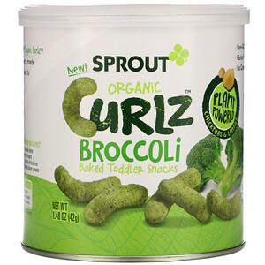 Sprout Organic, Curlz, Broccoli, 1.48 oz (42 g) отзывы покупателей