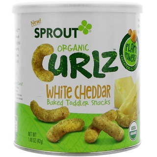 Sprout Organic, Curlz, White Cheddar, 1.48 oz (42 g)