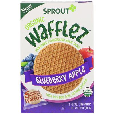 Купить Sprout Organic Вафли Wafflez, голубика и яблоко, 5упаковок, 18г