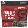 Stryve Foods, شرائح بلتونج، حجم صغير، مسكيت الشوي، 16 أوقية (454 جم)