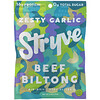 Stryve Foods, Beef Biltong, Air-Dried Beef Slices, Zesty Garlic, 2.25 oz (64 g)