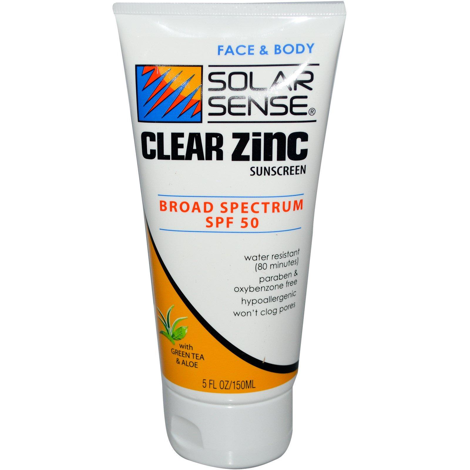 Face sunscreen with zinc