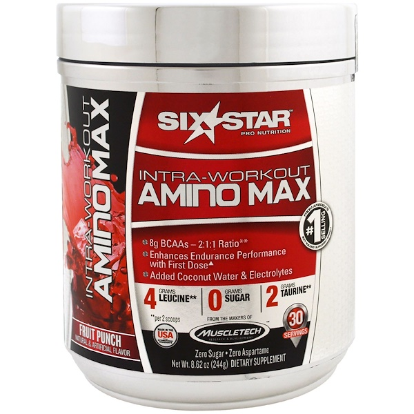 Six Star, Intra-Workout Amino Max, Fruit Punch, 8.62 oz (244 g)
