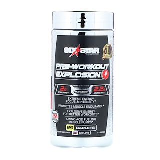 Six Star, Pre-Workout Explosion, 99 Caplets
