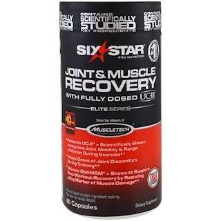 Six Star, Elite Series, Joint & Muscle Recovery, 60 Capsules