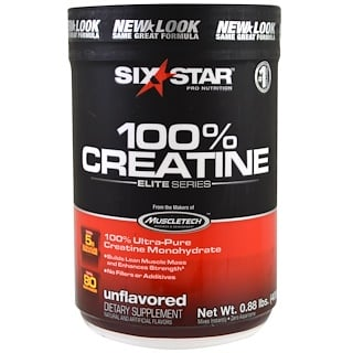 Six Star, Elite Series, 100% Creatine, Unflavored, 0.88 lbs (400 g)