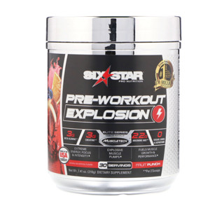 Six Star, Pre-Workout Explosion, фруктовый пунш, 210 г