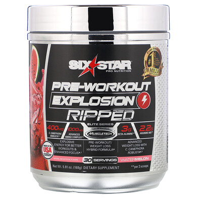Фото - Pre-Workout Explosion Ripped, со вкусом арбуза, 168г (5,91унции) pre workout explosion ripped со вкусом арбуза 168г 5 91унции