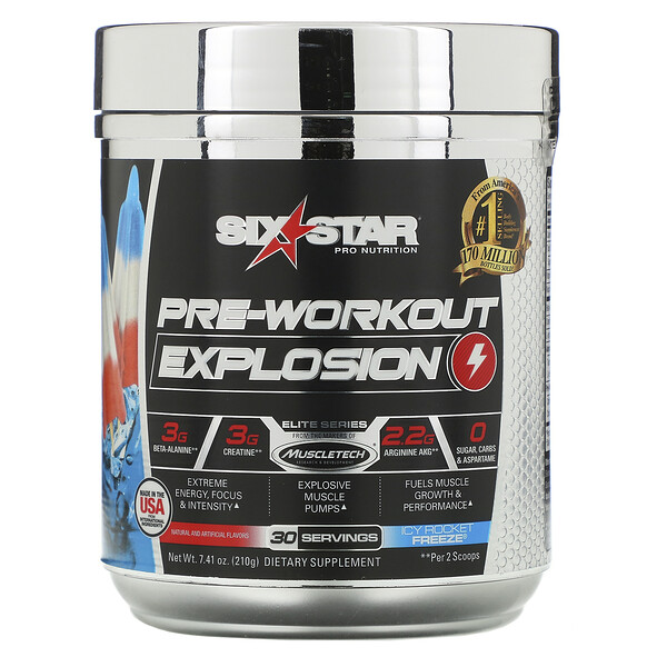 Pre-Workout Explosion, Icy Rocket Freeze, 7.41 oz (210 g)