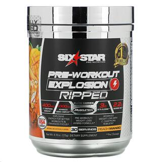 Six Star, Elite Series, Pre-Workout Explosion, Ripped, Peach Mango, 6.10 oz (173 g)