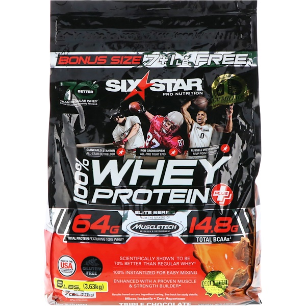 Elite Series, 100% Whey Protein Plus, Triple Chocolate, 8 lbs (3.63 kg)