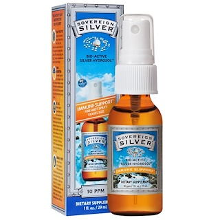 Sovereign Silver, Bio-Active Silver Hydrosol, Immune Support, Fine-Mist Spray, 10 ppm, 1 fl oz (29 mL)