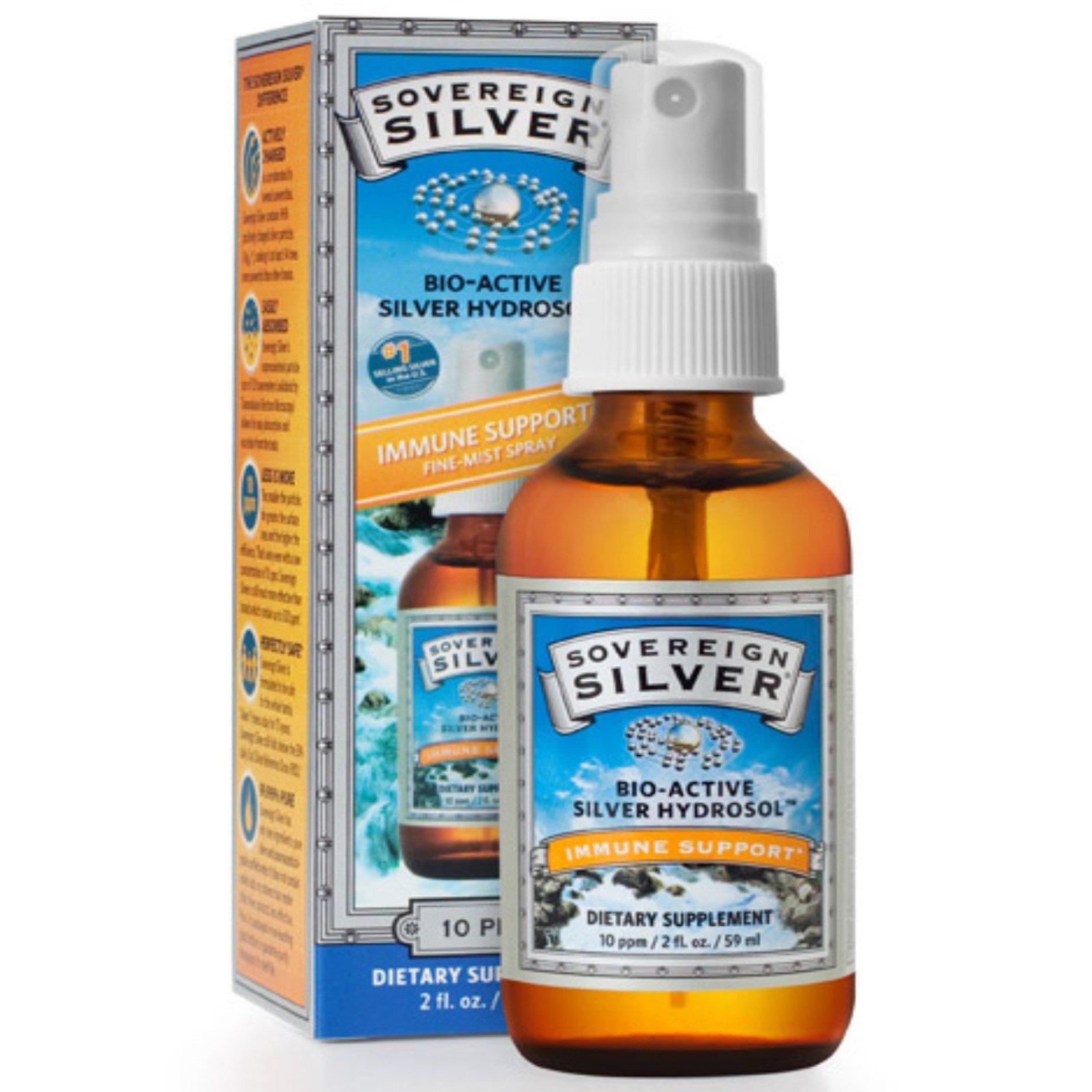 Sovereign Silver, Bio-Active Silver Hydrosol, Immune Support, Fine-Mist Spray, 10 ppm, 2 fl oz (59 mL)
