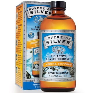 Sovereign Silver, Colloidal Bio-Active Silver Hydrosol, 10 PPM, 16 fl oz (473 ml)