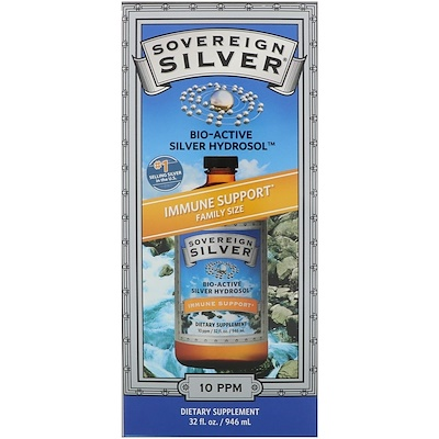 Sovereign Silver Bio-Active Silver Hydrosol, Immune Support, 10 ppm, 32 fl oz (946 ml)