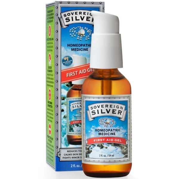 Sovereign Silver, Silver, First Aid Gel, 2 fl oz (59 ml)